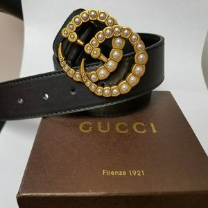 Pearl Gucci Belt size 34 to 38